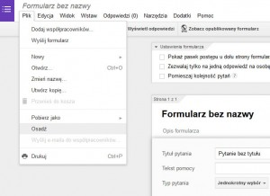 Osadzanie formularza Google na stronie WordPress