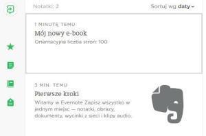 Evernote - program do gromadzenia notatek, zdjęć, multimediów i wiele więcej.