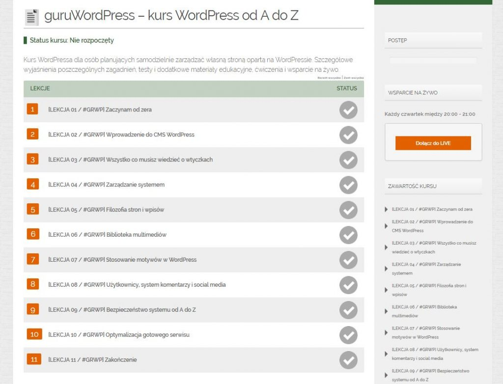 guruWordPress – kurs WordPress od A do Z